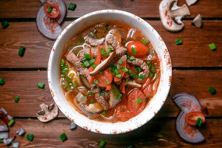 Суп Азиатский с рисовой лапшой