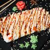 Фото к позиции меню Суши-пицца с лососем