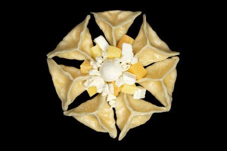 Вареники ручной лепки ЧизПели четыре сыра