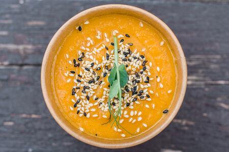 Крем-суп Сезонный из тыквы на кокосовом молоке