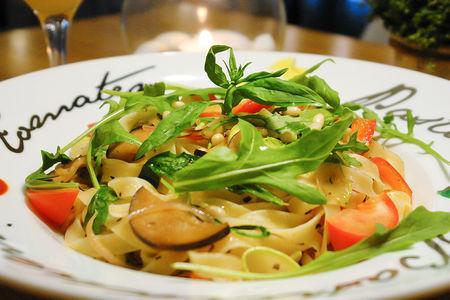 Паста Тальятелле с овощами
