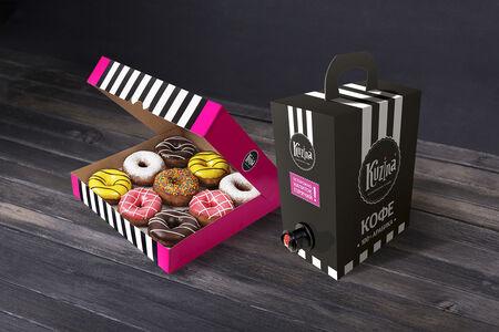 Кофе-Бокс и набор пончиков