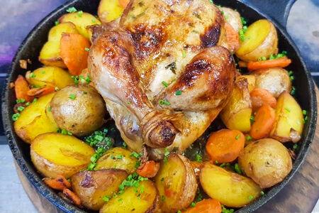 Цыплёнок с драгун-травой и картофелем