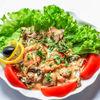 Фото к позиции меню Горячий салат из морепродуктов