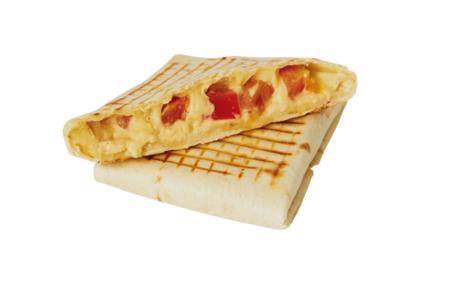 Питерский тост с сыром, томатами и курицей