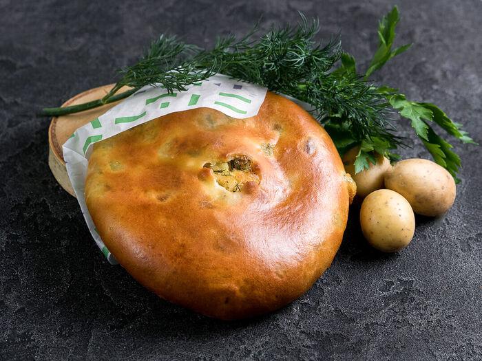 Пирог Осетинский с картофелем и зеленью