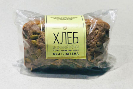 Хлеб из зеленой гречки с тыквенными семечками