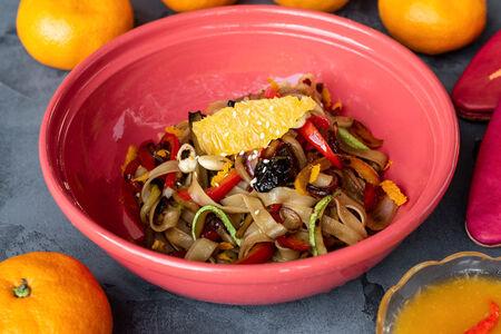 Лапша Медфуна с курицей и овощами
