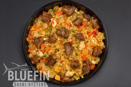 Рис жаренный с говядиной Black Angus