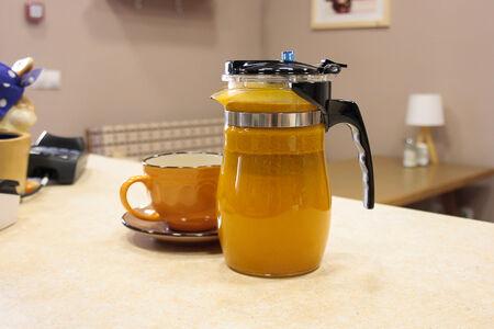Чай ягодный облепиха-имбирь