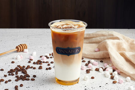 Кофе со льдом Карамельно-сливочный с корицей