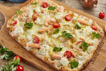 Пицца римская Семга с креветками