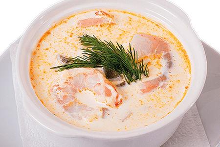 Суп Сливочный с тигровыми креветками