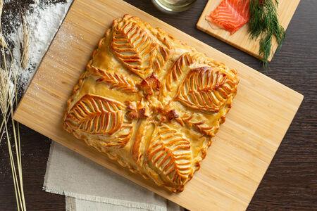 Русский пирог Лосось со сливочным сыром