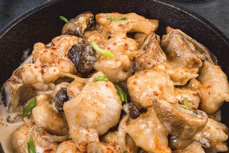 Печень и филе цыпленка