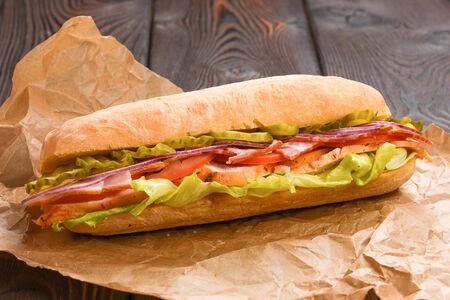 Сэндвич бекон и курица