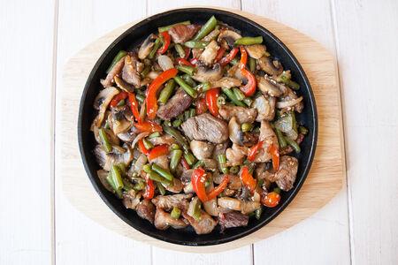 Свинина с овощами Сытый муж