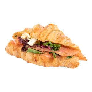 Мини-круассан с лососем «Хлеб насущный»