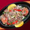 Фото к позиции меню Жареный рис с морепродуктами, яйцом и зеленым луком