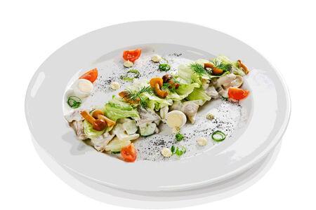 Салат из трех видов мяса
