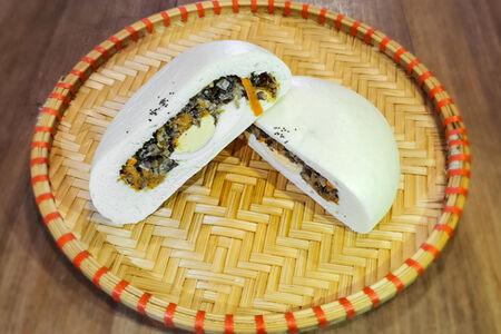 Паровая булочка Бао с грибами