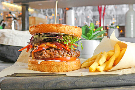 Бургер с рубленой говядиной