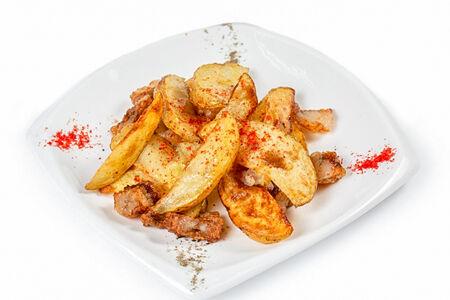 Картофель по-деревенски с курдюком