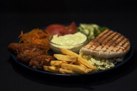 Вегетарианская на тарелке