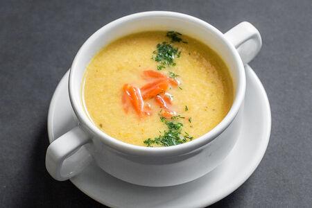 Крем-суп с лососем