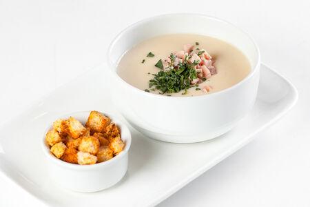 Картофельный крем-суп с курицей