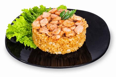 Рис с семгой
