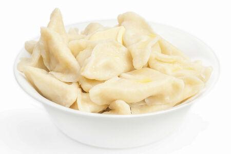 Вареники с картофелем, грибами и сметаной