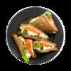Фото к позиции меню Клаб сэндвич с семгой и сыром