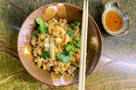 Вок Рис с морепродуктами