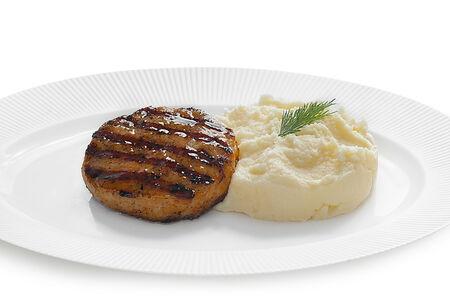 Котлета рыбная с пюре картофельным
