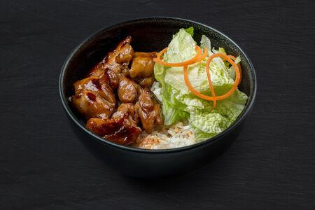 Рис с курицей терияки