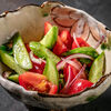 Фото к позиции меню Салат из огурцов и помидоров