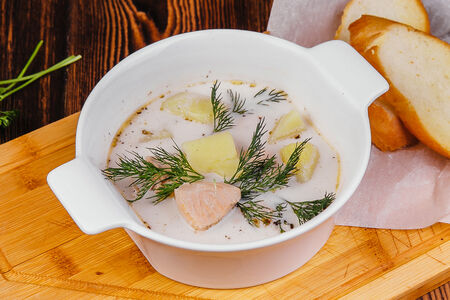 Суп Рыбный из сёмги со сливками
