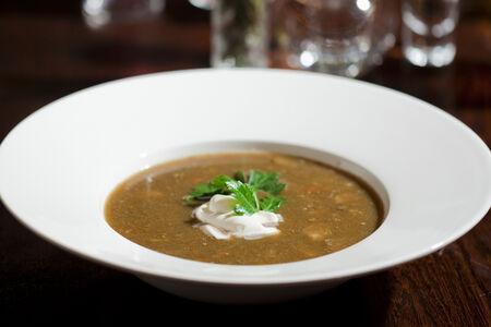 Суп из белых грибов со сметаной