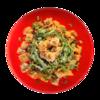Фото к позиции меню Салат из тыквы с соусом из козьего сыра