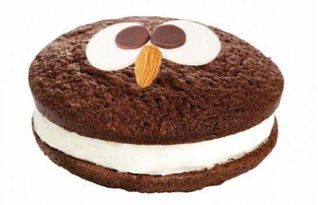 Огромное Шоколадное Печенье Совенок с Кремом