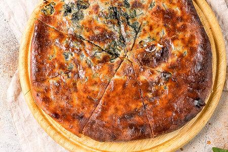 Пирог с сыром с зеленью