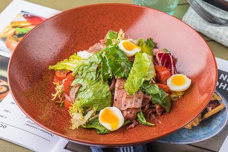 Салат с ростбифом в горчичной заправке