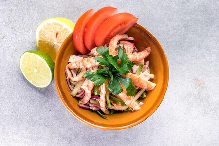 Салат Севиче с морепродуктами