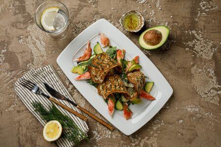 Салат с камчатским крабом