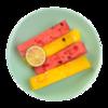 Фото к позиции меню Фруктовый микс Арбуз красный и желтый, брусочки