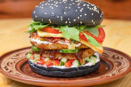 Веганский бургер Космос
