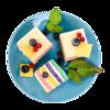 Фото к позиции меню Пирожное Радужное бисквитное от шеф-кондитера