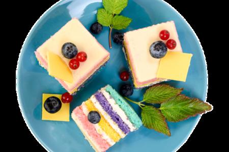 Пирожное Радужное бисквитное от шеф-кондитера