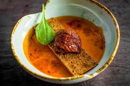 Суп-пюре из болгарского перца с остринкой